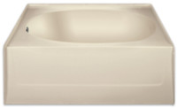 Aquarius 60 x 42 Residential Gelcoat Oval Soaking Tub - Drain Left - G2406TOL