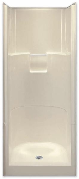 Aquarius AcrylX ™ | 2-Piece Sectional Shower | 31.75W x 33.75D x 76H | Center Drain | G3275SH2P , cheap shower, discount shower, low price shower, best price shower, One piece shower, fiberglass shower, reinforced shower, two piece shower, 2 piece shower, remodel shower, multi-piece shower