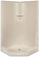 "Aquarius AcrylX ™ | 2-Piece Sectional Corner Shower | 41""W x 41""D x 80"" H 