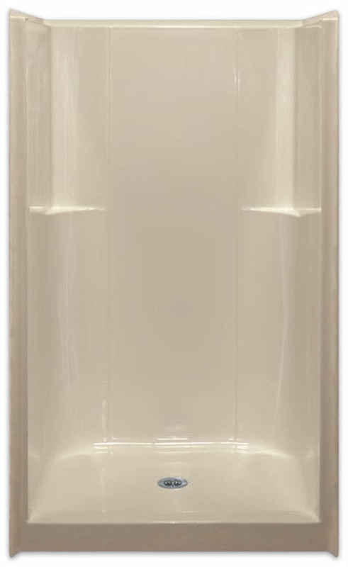 Aquarius ACRYLX™ 42W x 37D x 74H Shower Smooth Wall Center Drain G4236SH