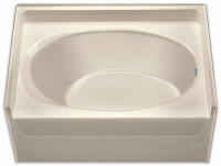 Aquarius 60 x 42 Residential Gelcoat Oval Soaking Tub - Drain Left (RH Drain Shown) - G4260TOL