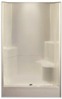 "Aquarius AcrylX ™ | 2-Piece Sectional Shower | 48"" W x 35.5""D x 77.5""H 