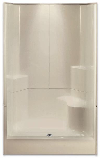 "AQUARIUS ACRYLX ™ | SHOWER 3 PIECE SECTIONAL | RH SEAT | 48""W X 35.5""D X 77.5""H 