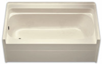 Aquarius 60 x 32 Residential Gelcoat Soaking Tub - Drain Left - G6032TOL