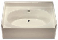 Aquarius 60 x 42 Residential Gelcoat Oval Soaking Tub - Drain Center - G6040TO