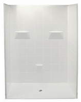 "Aquarius Barrier Free Gelcoat 60"" x 33"" 5-Piece Shower Stall 