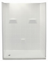 "Aquarius Gelcoat Shower Stall 60"" x 31"" | 5-Piece | 4"" Threshold - Drain Left - MP 6030 SH 5P 4.0 L"