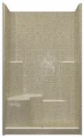 Aquarius Millennia 48 x 37 Gelcoat Shower With Tile Pattern - Molded Seat Left - M3648SH1STileL