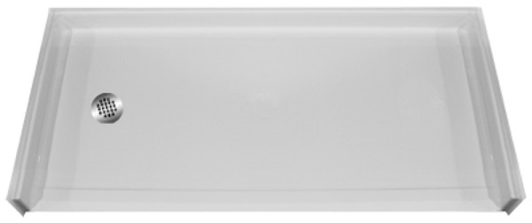 "Aquarius AcrylX™ | Barrier free Shower Pan | Accessible Shower Base | 60""W x 31""D x 4.50""H 
