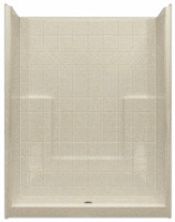 Aquarius Millennia 60 x 33 AcrylX™ Shower Tile Pattern Center Drain M6033SHNSTile