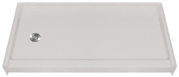 "Aquarius AcrylX™ | Shower Pan | Shower base | 4"" EasyStep™ | 60""W x 31""D x 6""H | Right Drain | MPB 6030 SH 4.0 R | cheap shower base, discount shower base, low price shower base, best price shower base, low price shower pan, discount shower pan, cheap shower pan"