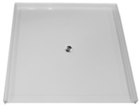 "Aquarius AcrylX™ Barrier Free Shower Pan | Accessible Shower Base | 60""W x 61""D x 4.5""H 
