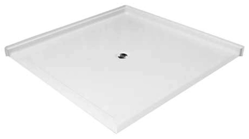 Aquarius AcrylX™ | Double Entry | Barrier Free | Corner Shower Pan | Accessible Shower Base | 61W x 61D x 4.5H | Center drain | MPB 6060 BF DE 1.25 | unique size shower pan, unique size shower base, shower base, shower pan, shower, barrier free, barrier free shower base, barrier free shower pan, remodel shower, multi-piece shower, 2 piece shower, low threshold, two piece, two piece shower, Cheap sectional shower, Discount standard sectional, low price shower, best price shower, cheap one piece shower, grab bar shower, cheap shower, Discount shower, aging in place shower, accessible showers, cheap shower base, discount shower base, low price shower base, best price shower base, tile shower base, accessible shower base, aging in place shower base, no threshold shower base, low threshold, shower base, Sectional shower, cheap shower pan, low price shower pan, discount shower pan, best price shower pan, accessible shower pan,