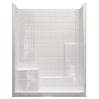 "AQUARIUS ACRYLX™ 60W x 33D x 77H Shower | Tile Pattern | 21"" Comfort Height Seat 