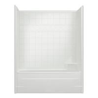 Aquarius AcrylX™ CHM 6032 TS 60W x 33D x 76.5H Tub Shower CHM 6032 TS