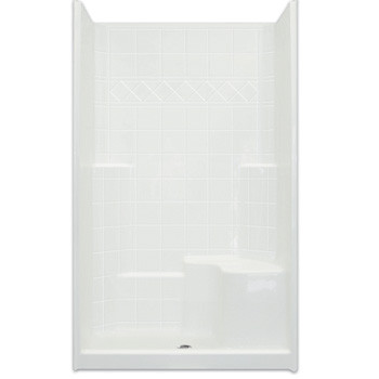 Aquarius AcrylX™ 48W x 37D x 80H Shower | 21 inch Comfort Height seat | Tile Pattern | CHM 3648 SH
