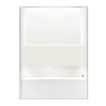 Aquarius ACRYLX™ 2 Piece Tub Shower Combo | 60W x 32.25D x 78H | CHG 6017 TS 2P FB