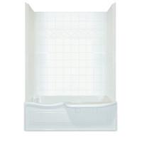 Aquarius Choose Home Series 60 x 32 Tub Shower Combination 2 Piece w/ Transfer Seat - CHA 6034 TS