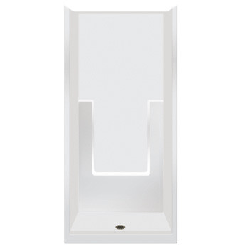 "Aquarius ACRYLX™ 1-Piece Smooth Wall Shower 35.75W x 37.25D x 77.5H | 4"" Threshold 