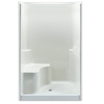Aquarius AcrylX™ 48W x 37D x 78H Smooth Wall shower with seat | CHG 4837 SH