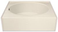 Aquarius 60 x 36 Residential Gelcoat Oval Soaking Tub - Drain Left - GGT36L