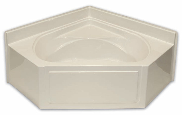 Aquarius AcrylX ™ Neo-Angle Corner Soaking Tub with armrests & wainscot trim | 60W x 60W x 27.25H | Center Drain | G6060 AP, soaker tub, soaking tub,  neo angle tub, soaker bathtub, soaking bathtub, corner bathtub, corner tub, cheap tub, cheap bathtub, low price tub, low price bathtub, discount bathtub, discount tub,  neo angle bathtub, corner soaker tub, corner soaker bathtub,