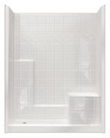 Aquarius AcrylX™ 60W x 33D x 79.5H | 3 Piece Shower | RH Molded Seat | MP 6032 SH 3P 1S 4.0 R