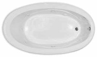 Aquarius Contractor Advantage Series 71.5 x 40.5 Oval Drop In Acrylic Soaker Tub - RN 7040