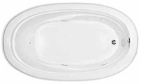 Aquarius Contractor Advantage Series 72 x 42 Oval Drop In Acrylic Soaker Tub - RN ORLN 6 TO