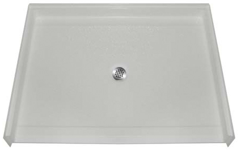 "Aquarius AcrylX™ | Barrier Free Shower Pan | Shower Base | Center Drain | 48""W x 37""D x 4.5""H 