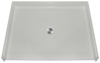 "Aquarius AcrylX™ Barrier Free Shower Pan | Shower Base | Center Drain | 48""W x 37""D x 4.5""H 