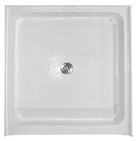 "Aquarius 36 x 36 Acrylic Shower Base With 6"" Easy-Step Threshold Center Drain - AB-3636"