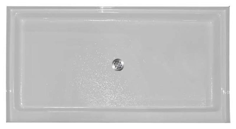 "Aquarius AB 3460 | 60W x 34D x 5.25H | Center drain Premium Acrylic shower pan | 4"" threshold"