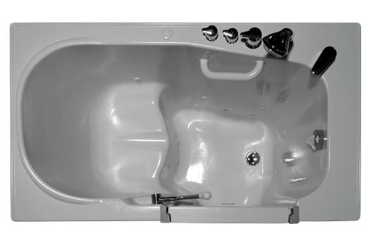 Aurora by Homeward Bath | Inward Opening Walk-In Whirlpool Jet Tub | 51 × 29.5 x 42 | HY-1123W