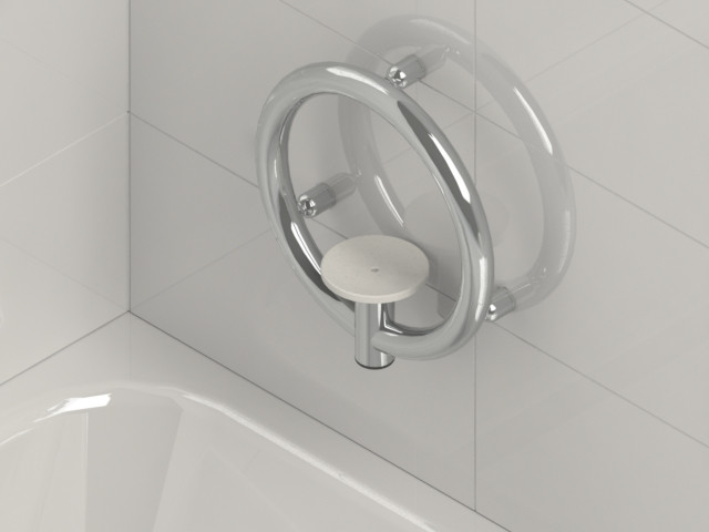 Invisia Soap Dish Brushed Stainless Integrated support rail with a 500lb. capacity INV-SD-BS
