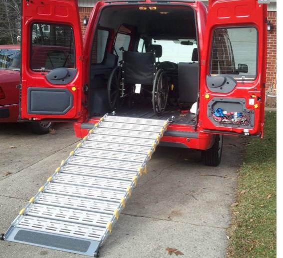 Roll-A-Ramp® 13' x 30'' Aluminum Ramp   A13012A19 ,  cheap ramp, low price ramp, discount ramps, best price ramp, wheel chair ramp, value ramp,  quality ramp, aluminum ramp, safety ramp, roll a ramp,  mobile ramp
