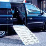 "Roll-A-Ramp 30"" Wide Power Power AutoFold™ Mini-Van Ramp w/ Wireless Remote Control 