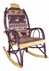Amish Bentwood Rocker Cushion Set - Elk Run Fabric