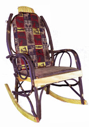 Amish Bentwood Rocker Cushion Set - Red Cabin Fabric