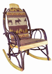 Amish Bentwood Rocker Cushion Set - Brown Moose Fabric
