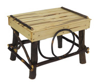 Amish Bentwood Foot Stool - Hickory & Wormy Maple