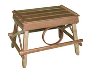 Amish Bentwood Foot Stool - Solid Cherry