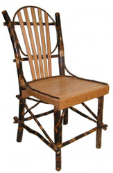 Set of 2 Rustic Hickory & Oak Bentwood Kitchen Dining Chair