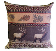 Premium Rustic Throw Pillow COVER ONLY- Elk Run