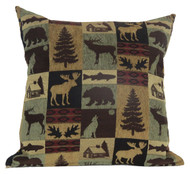 Premium Rustic Throw Pillow - Brown Cabin