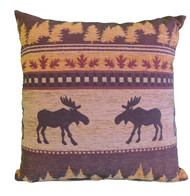 Premium Rustic Throw Pillow COVER ONLY- Brown Moose