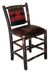 "24"" Hickory Upholstered Bar Stool"