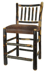 """24"""" Hickory Bar Stool with Spindle Back - Faux Leather Fabric"""