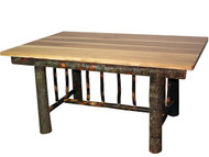 Rustic Hickory Mission Style Dining Table