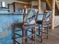 "24"" Hickory Bar Stool - Bear & Cub Fabric - Customer Picture"